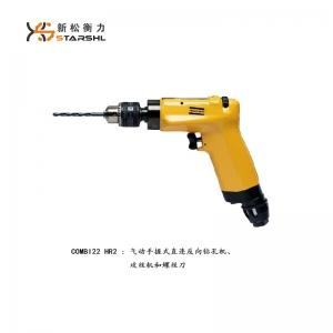 Pneumatic hand grip straight reverse tapping machine